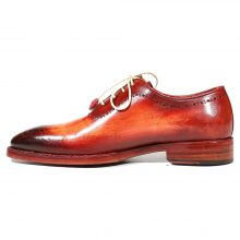 New Handmade Men's Medallion Toe Reddish Camel Oxfords Shoes