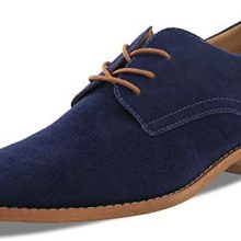 New Handmade Men's Blue Cow-Hide Suede Leather Classic Oxford Dress Shoes