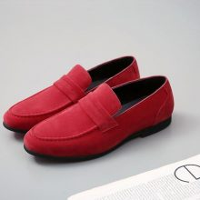 New Handmade Leather Shoes Pointed Toe Red Tassels Party Dress Driving Flat Shoes