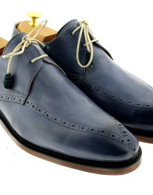 NEW MEN LUXURY CLASSIC HANDMADE GREY SHOES