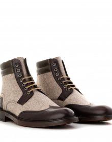 New Men's handmade Black Leather Ankle high boot Men's luxury Ankle high