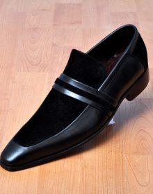 Men's Handmade leather shoes, Men formal slip on leather moccasin dress shoes