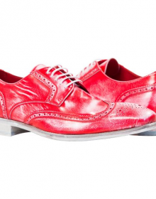 Men's New Handmade Nappa Wingtip Red Shoes