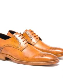 Men's New Handmade Nippon Full Grain Cognac Shoes
