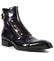 New Handmade Mens Inglese Blu Navy Plato Leather Boots