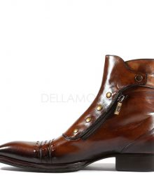 New Handmade Italian Mens Playo Inglese Tabacco Brown Leather Boots