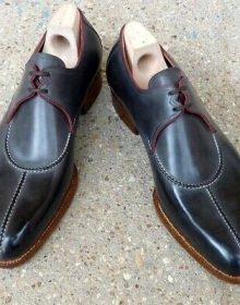Men Split Toe Black Tone Oxford Classic Formal Dress Lace Up Leather Shoes