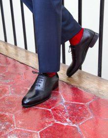 Black Handmade Derby Oxford Shoes for men custom made Dress shoes for men
