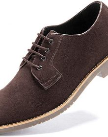 New Handmade Men's Suede Brown Dress Casual Lace up Oxford Shoes
