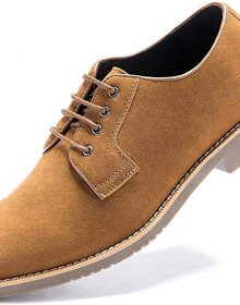 New Handmade Men's Suede Kaye-Brown Dress Casual Lace up Oxford Shoes
