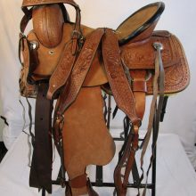 Roping Saddle Headstall Breast Collar Front Leather Billet Included Rear Leather Billet Included Leather Latigo Included