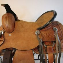 TOOLED LEATHER TRAIL PLEASURE HORSE WESTERN RANCH ROPING SADDLE