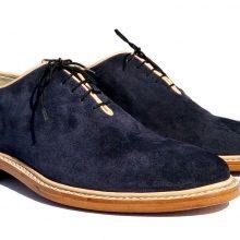 New Men's Formal Shoes, Men's Dark Blue Leather Formal Shoes