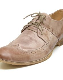 New Handmade Men Brown Genuine Leather Lace Up Shoes