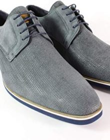 Grey Handmade Italian Leather Dress Shoes/Oxford Shoes/Men Shoes