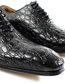 New Handmade Mens Black Buble Crocodile Texture Dress Oxford/Men /Office/Party Shoes