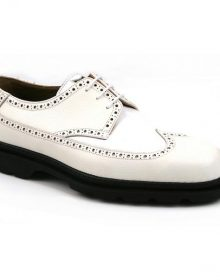 New Men's Handmade Wing Tip White/White Oxford Shoes