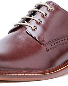 Genuine Leather Perforated Cap-Toe Oxford Handmade Shoes for Men