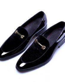 New Men Dress Patent Leather Luxury Fashion Men Luxury Italian Style Oxford Shoe