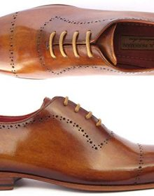 Men's Handmade Mens Light Brown Classic Brogues Shoes