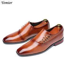 New Handmade Men Wine Red Formal Business Oxfords Shoe