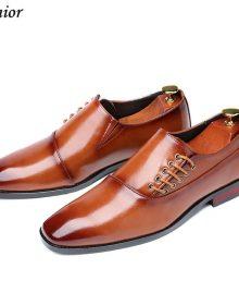 New Handmade Men Wine Red Formal Business Oxfords Shoe