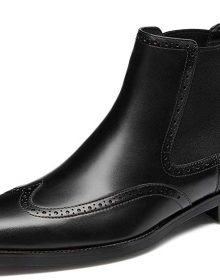 Men's Handmade Men's Chelsea Black Dress Boots for Men