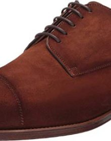 New Men's Handmade Cognac Suede Lace-up Shoes