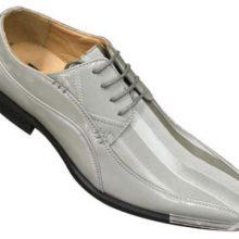New Handmade Men's Two Tone Elegant Oxfords Dress Gray Shoes