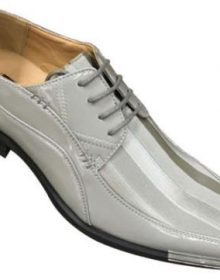 New Handmade Men's Two Tone Elegant Oxfords Dress Gray Shoes