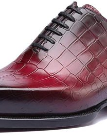 New Handmade Men's Snake Skin Texture Red Office Fashion Formal Wedding Party Oxford Shoes