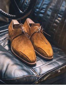 Handmade Derby Suede Stylish men Shoes, Men's Lace Up Brown Color Formal Shoes