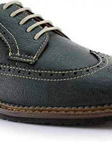 New Handmade Men's Casual Two Tone Green Classic Brogue Wingtip Dress Shoes