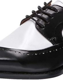 New Handmade Men's Black Buffalo Leather Lace-Up Dress Oxford Shoes