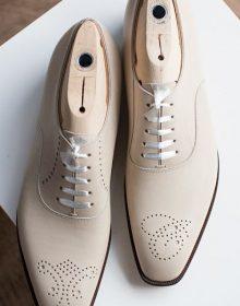 New Men's Handmade toe cap white shoes Oxford Leather, Men's Fashion white shoes
