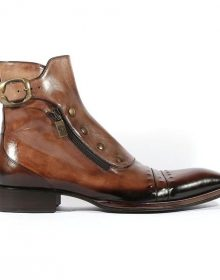Jo Ghost Italian Mens Shoes Playo Inglese Tabacco Brown Leather Boots