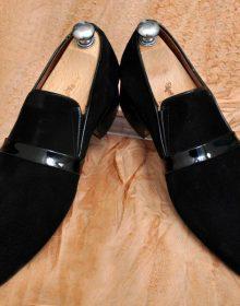 Moccasin Loafer Slip Ons Magnificiant Black Tone Premium Leather Vintage Shoes