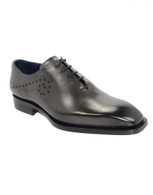 New Handmade Men's Firenze Grey Calf-skin Leather Oxfords Shoes