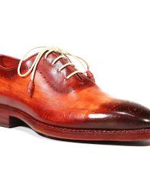 New Handmade Men's Medallion Toe Reddish Camel Oxfords Shoes