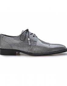New Handmade Men Gray Lizard Cap Toe Shoes