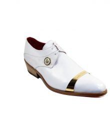 New Handmade Men Franco Couture Men's Shoes White Calf-Skin Leather Wing-Tip Oxfords