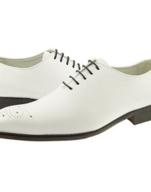 New Men's Brogues Toe White Customized Leather Oxford Formal Dress Men Shoes