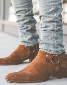 Handmade Men Tan Suede Ankle High Casual Boots, Mens fashion casual Ankle Boots