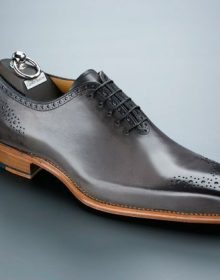 Black Brogues Toe Oxford Premium Leather Handmade Lace Up Classical Men