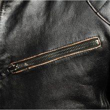 Handmade Men's Biker Zipper Black Genuine Leather Jacket