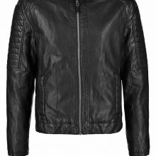 Handmade Mens Leather Jacket Black Slim Fit Biker Moto Custom Jacket