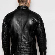 New Men's Original Cowhide Motorcycle Leather Jacket, Biker Fashion Jacket