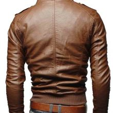 Leather jacket for mens new fashion in Brown