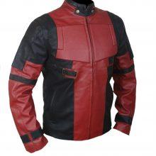 Deadpool Red Wade Wilson Ryan Reynolds Real Biker Motorcycle Leather Jacket