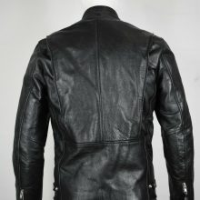 The Alley Chicago leather jacket 36 Small S cafe racer motorcycle biker black